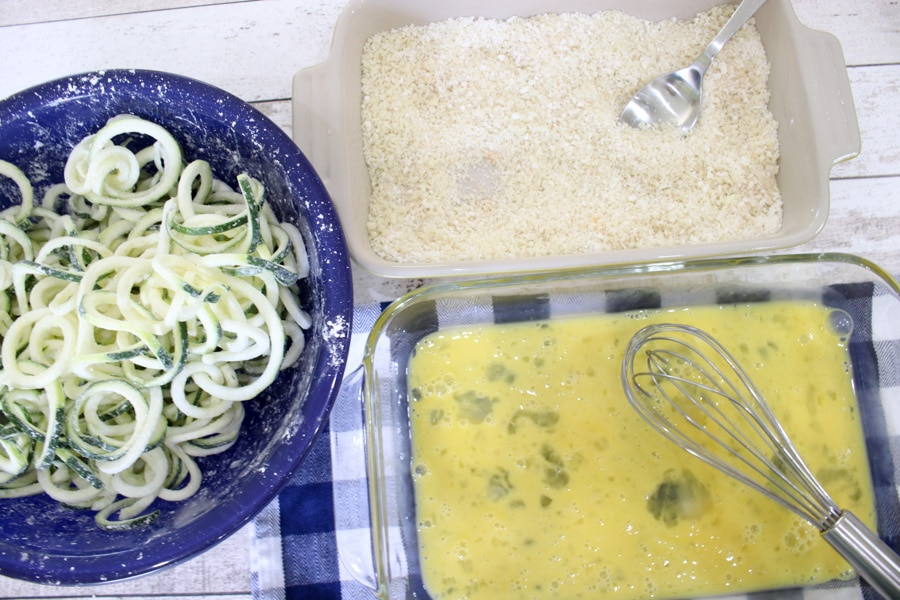 Zucchini fries ingredients
