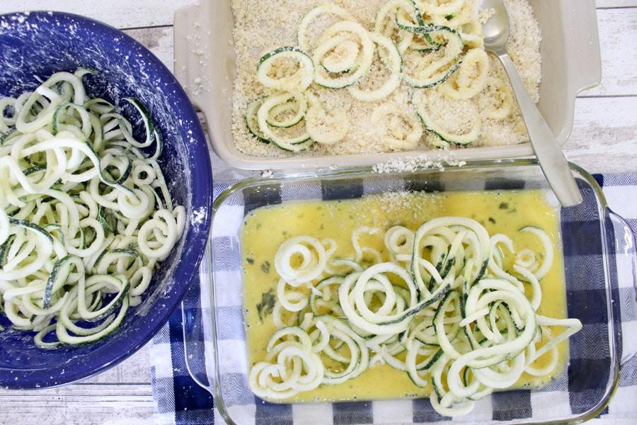 Making zucchini fries