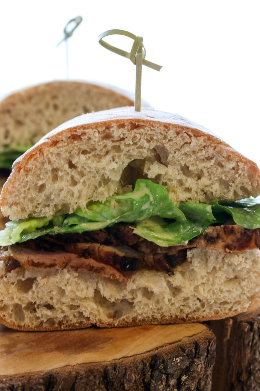 Caesar Salad Pork Tenderloin Sandwich