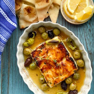 Honey Za'atar Baked Feta Cheese