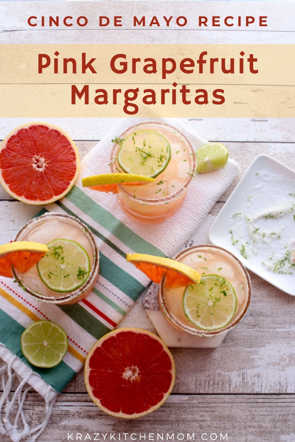 My Pink Grapefruit Margarita is the perfect way to use fresh citrus. I use both fresh grapefruit juice and fresh lime juice.  via @krazykitchenmom