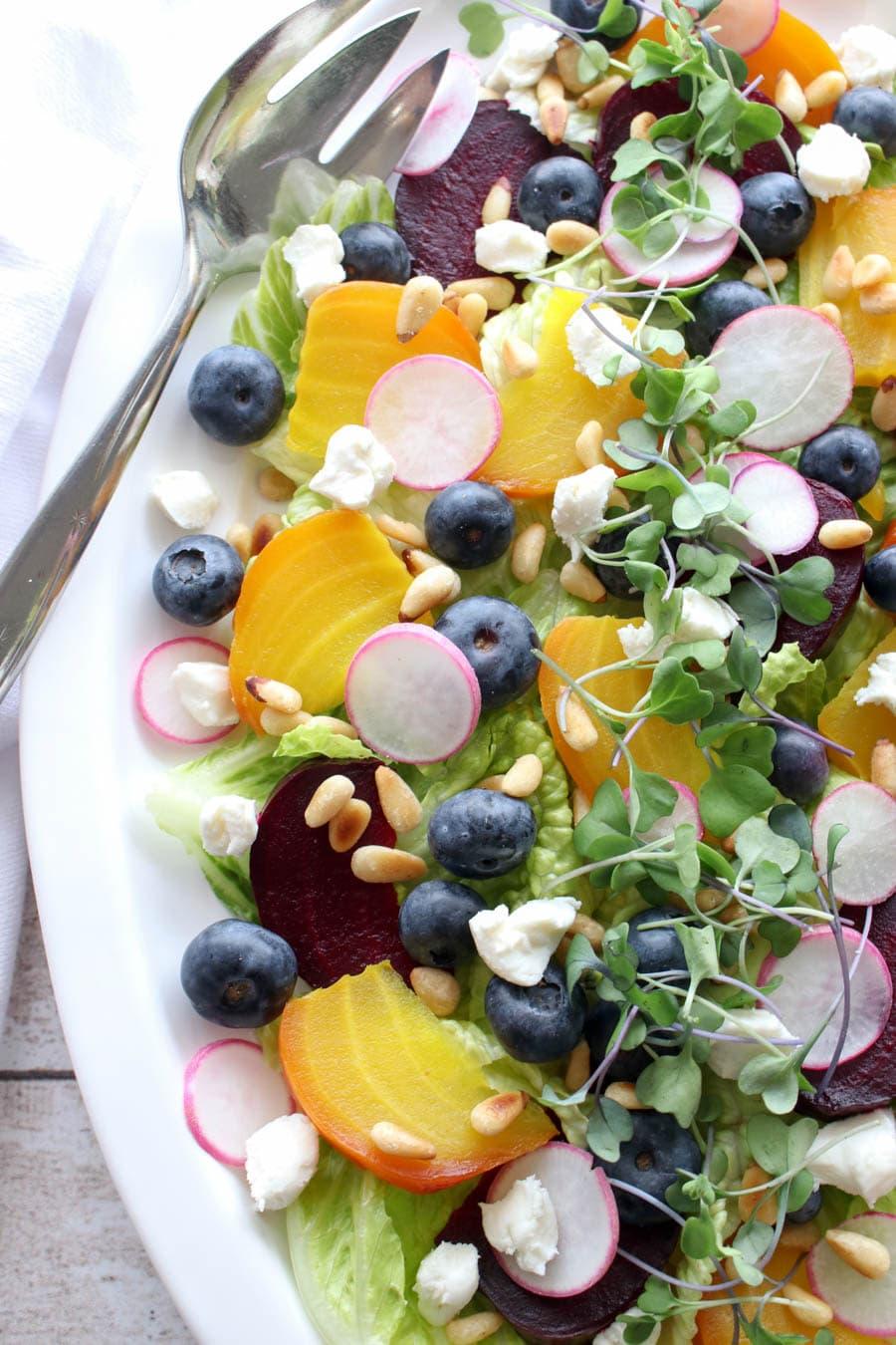 Platter of beet salad