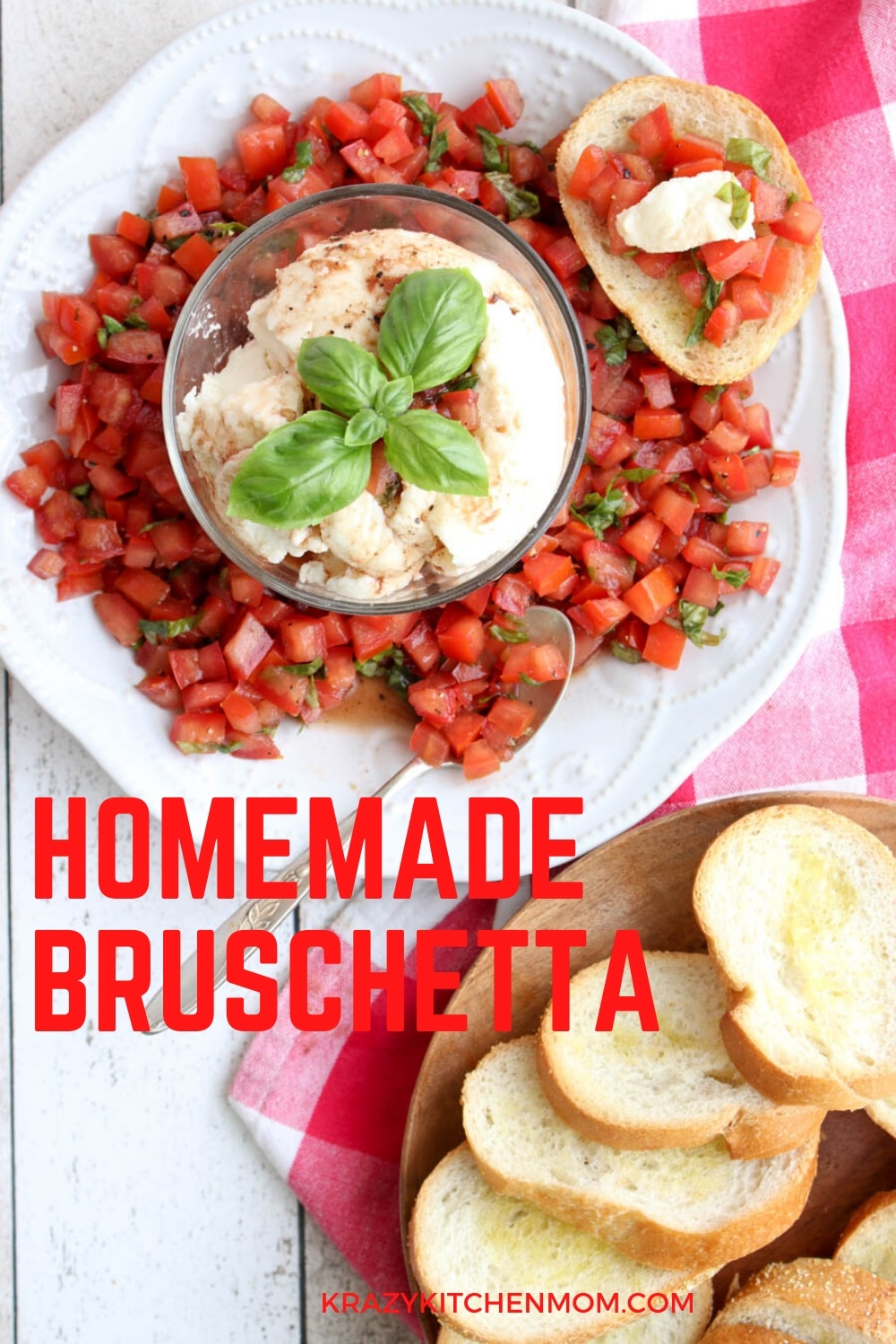 A delicious and super simple appetizer that's ready in less than 10 minutes. It's bright, fresh, and bursting with flavor. The perfect bite for a light lunch, brunch, or just an afternoon snack. via @krazykitchenmom
