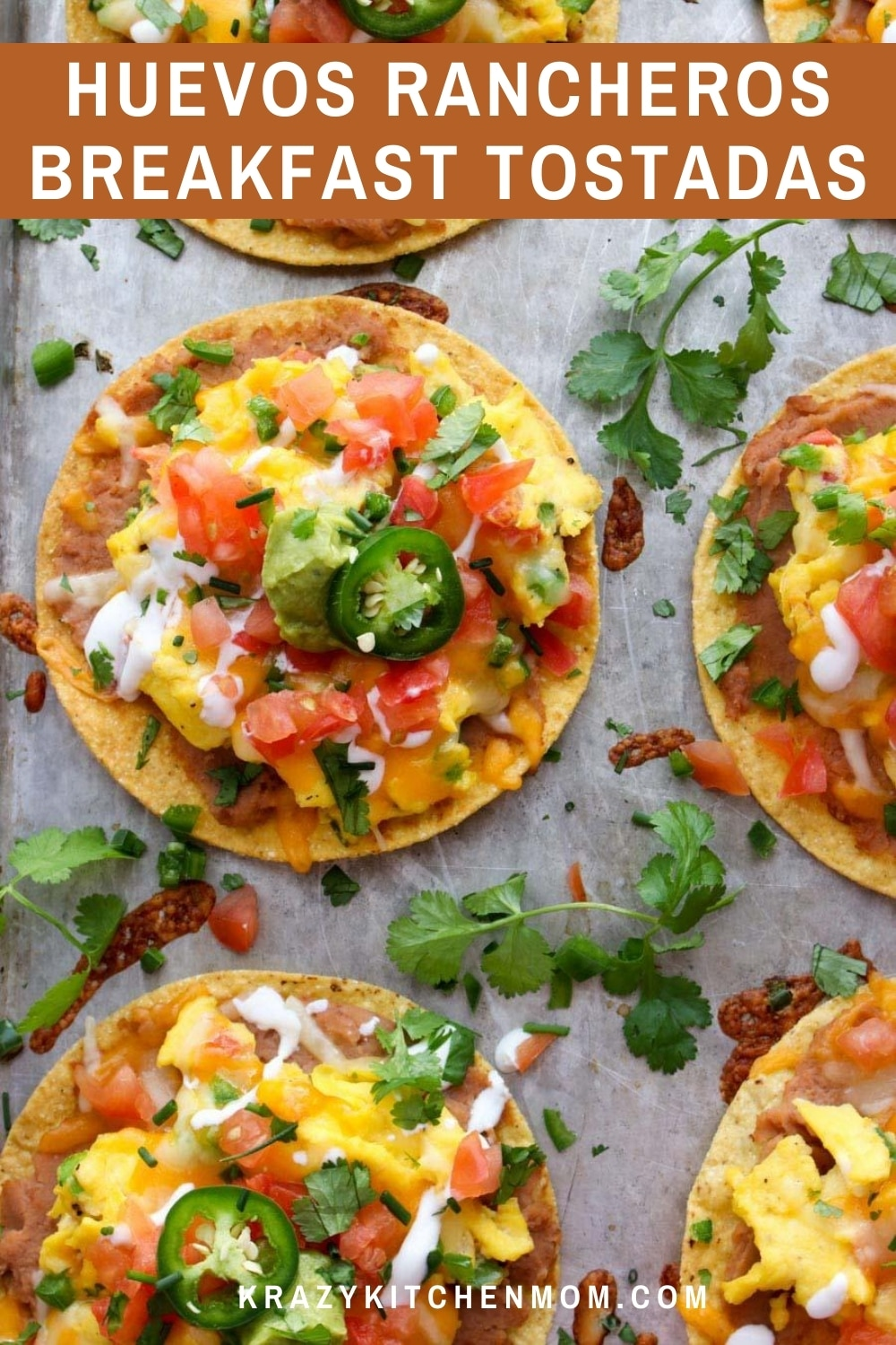 Looking for a way to mix it up for breakfast, brunch, and even dinner? Tostadas are a great way to add a ton of flavor and variety to your weekly menu. Serve these with a side of fresh diced fruit like watermelon or pineapple for a complete meal. via @krazykitchenmom