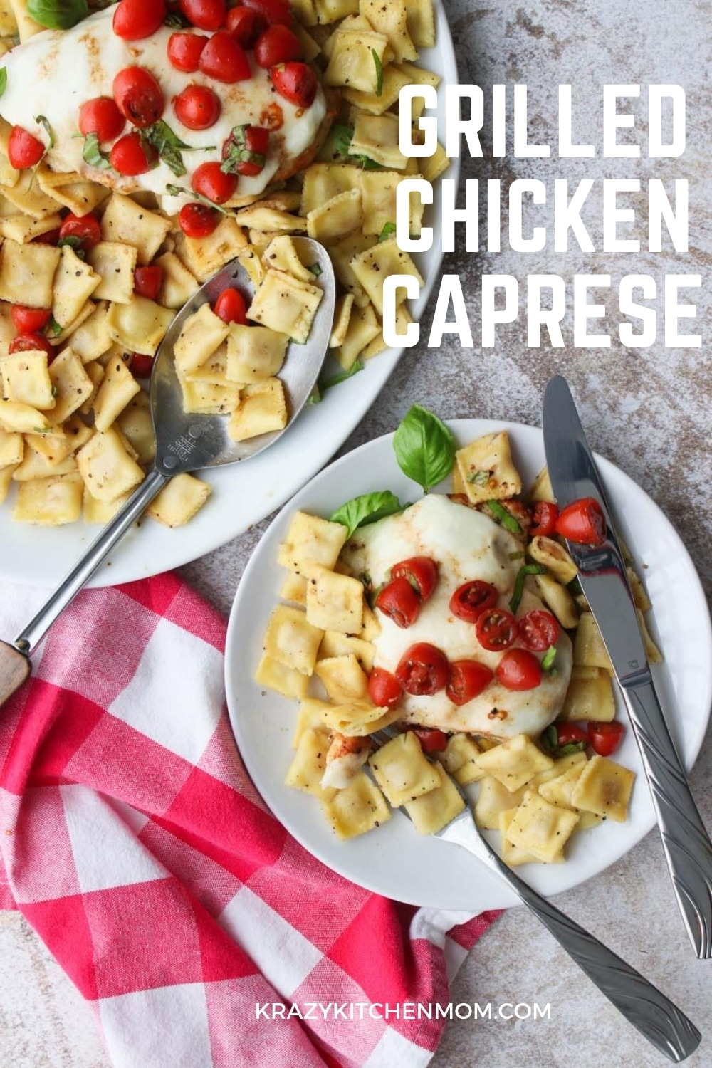 Fire up the grill for tender, juicy, flavor-packed grilled chicken topped with mozzarella cheese, fresh tomatoes, aromatic basil, olive oil, and balsamic vinegar.  via @krazykitchenmom