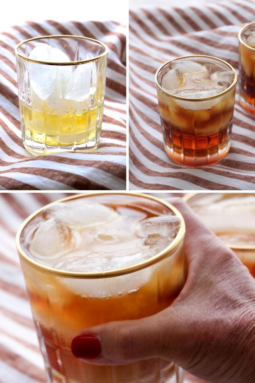 Photo with step to make Iced Irish Coffee