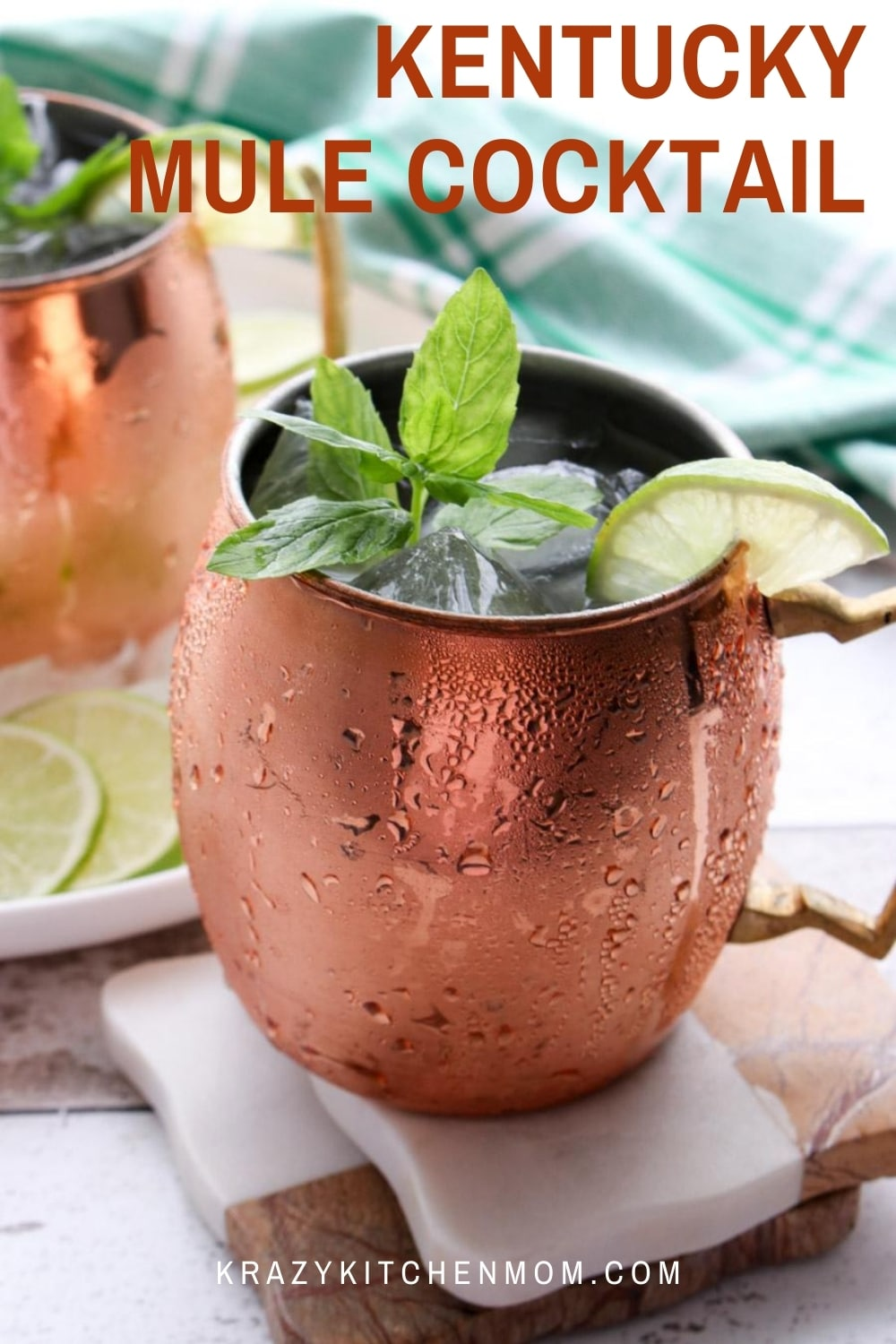 A simple twist on a traditional Moscow Mule using bourbon instead of vodka. Invite your family and friends to join you for a casual evening on the patio with this delightfully cold and refreshing Kentucky Mule Cocktail. via @krazykitchenmom