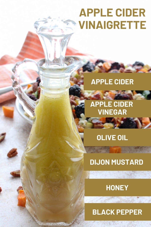 ingredients to make apple cider vinaigrette