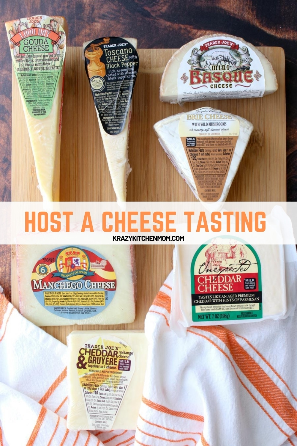 I've got all the tips and tricks to help you host a budget-friendly cheese tasting party. And the best part about it is that you can do host in-person or virtually via any video sharing platform. via @krazykitchenmom