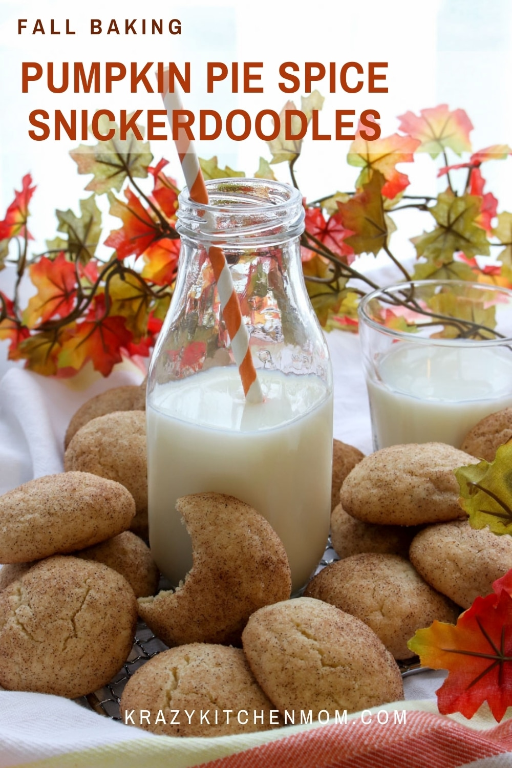 These cookies are a twist on the classic Snickerdoodle Cookie. Soft, fluffy sugar cookie-like cookies dusted in just the right amount of pumpkin pie spice to remind you of a crisp fall afternoon.  via @krazykitchenmom