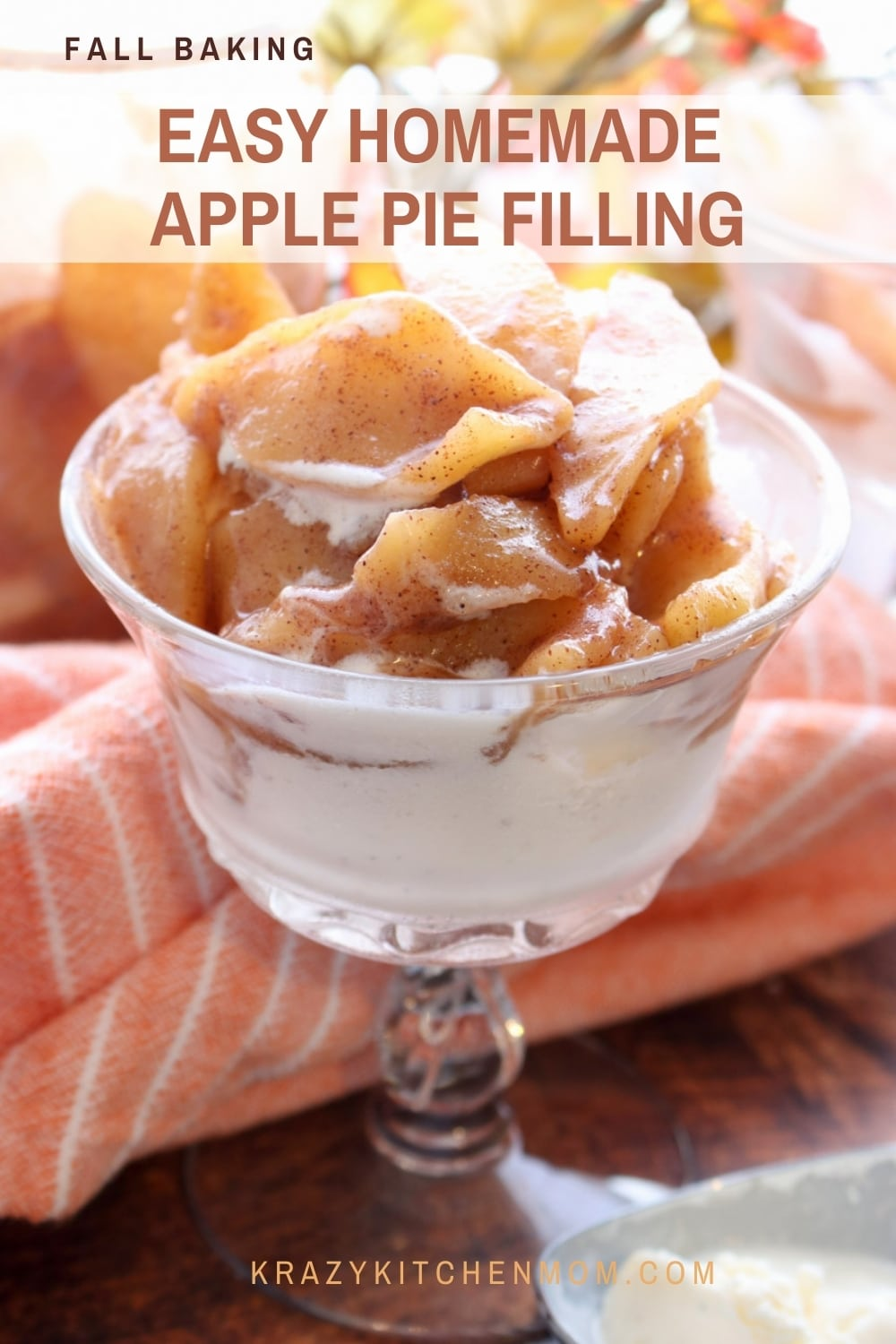 This fail-proof stove-top apple pie filling is ready in less than 30 minutes. It's super simple, freezer-friendly, and ready for all of your holiday baking. via @krazykitchenmom