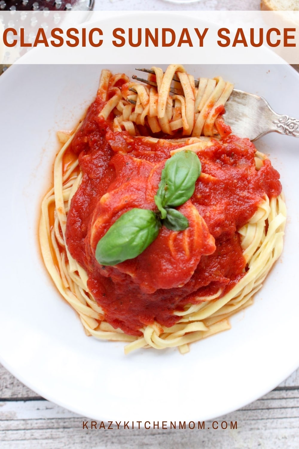 The secret to a perfect Sunday Sauce is to cook it low and slow for several hours. No rush and little fuss. It's worth every minute you wait. via @krazykitchenmom