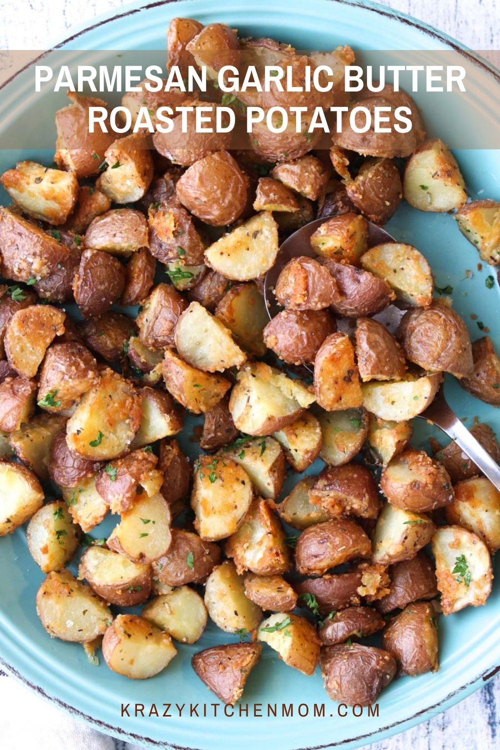 Crispy, cheesy, herby, roasted potatoes make the perfect side dish for any meal. The entire family will love these potatoes. They might even ask for seconds.  via @krazykitchenmom