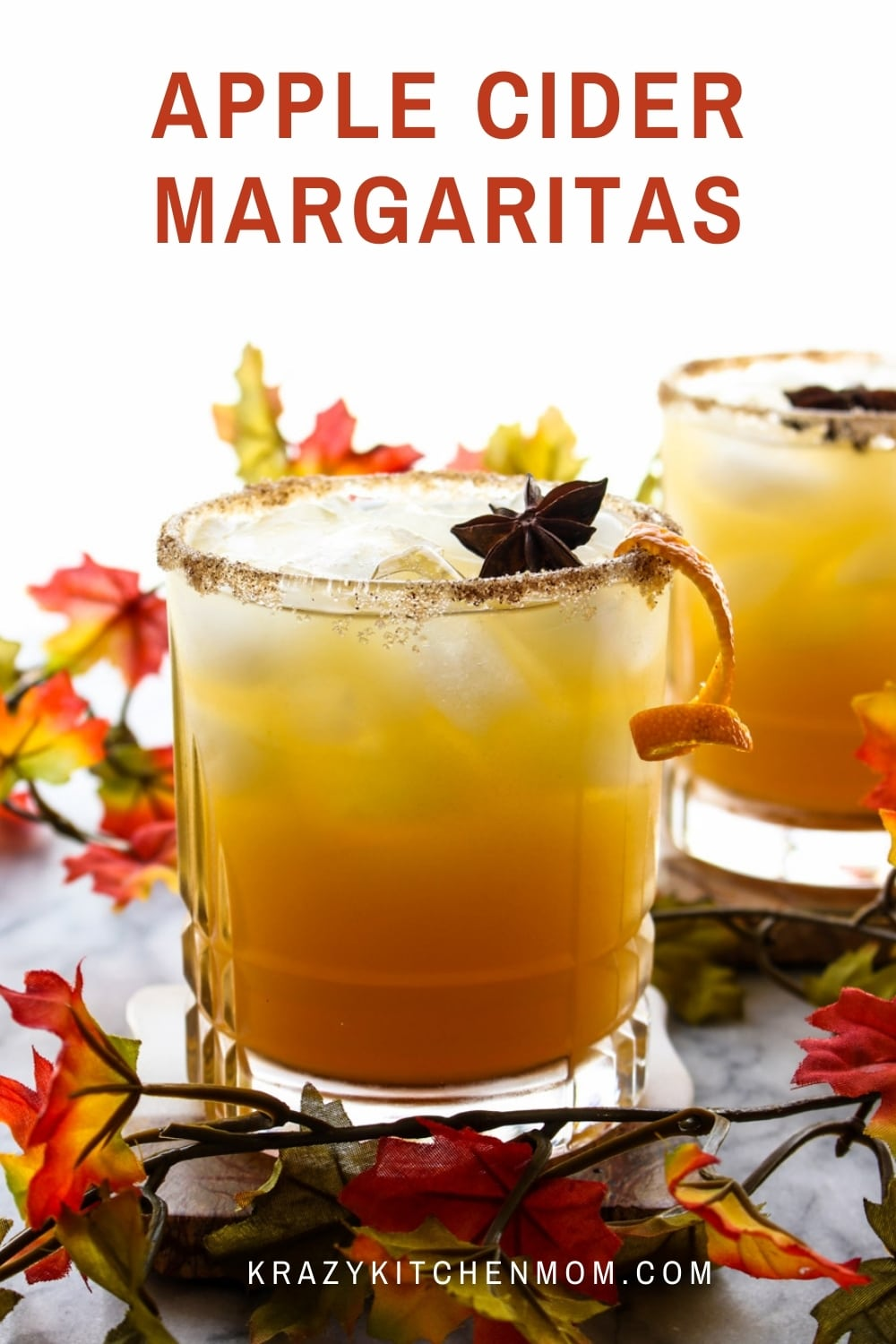 Here it is...the best Apple Cider Margaritas you'll ever taste! Apple cider, tequila, triple sec, and a splash of a secret ingredient with a cinnamon sugar rim, of course.  via @krazykitchenmom