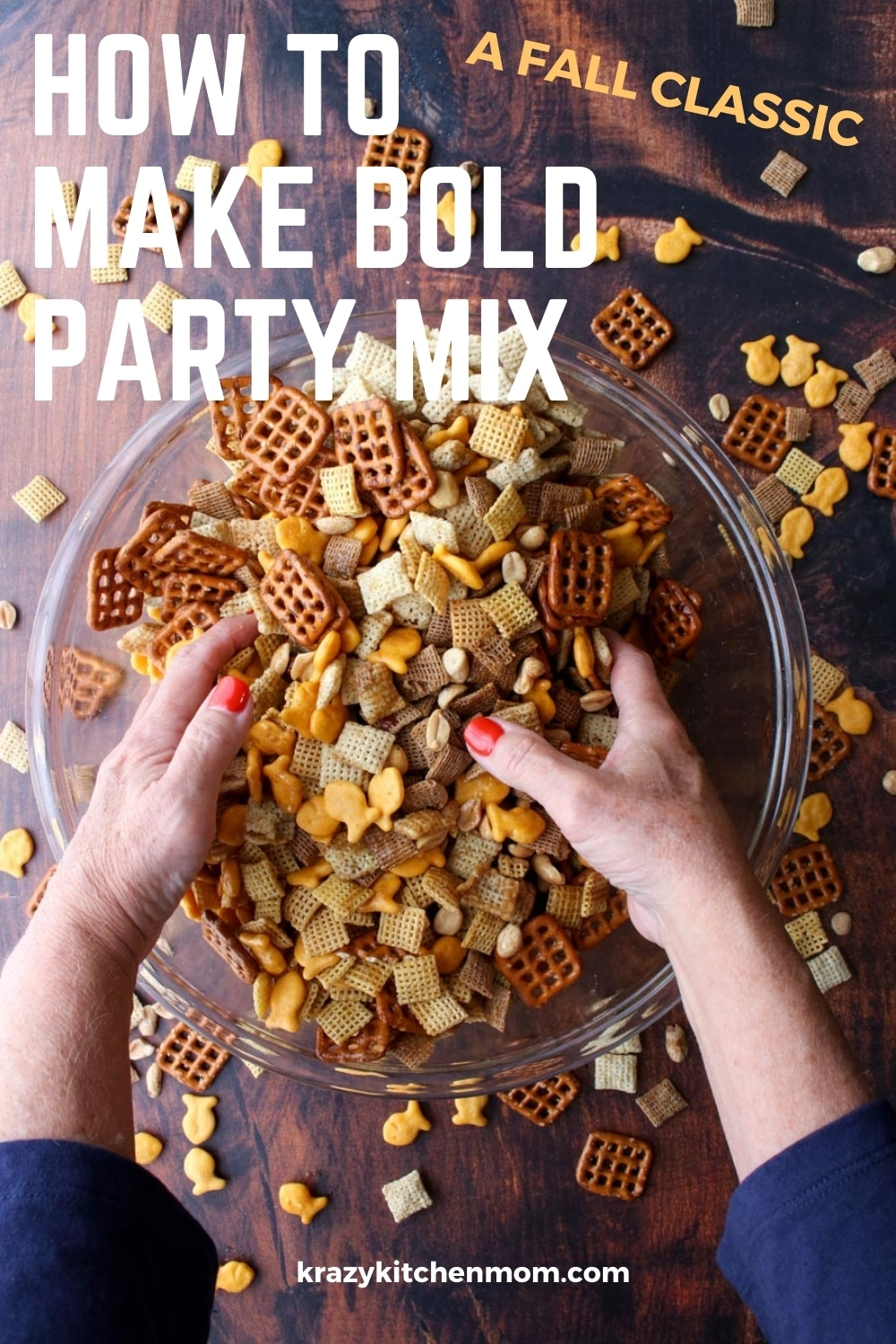 Bold, zesty, buttery, crunchy, salty party mix is a fan favorite at our house. It's my bolder zestier version of a classic party mix snack that really gets the party started.  via @krazykitchenmom