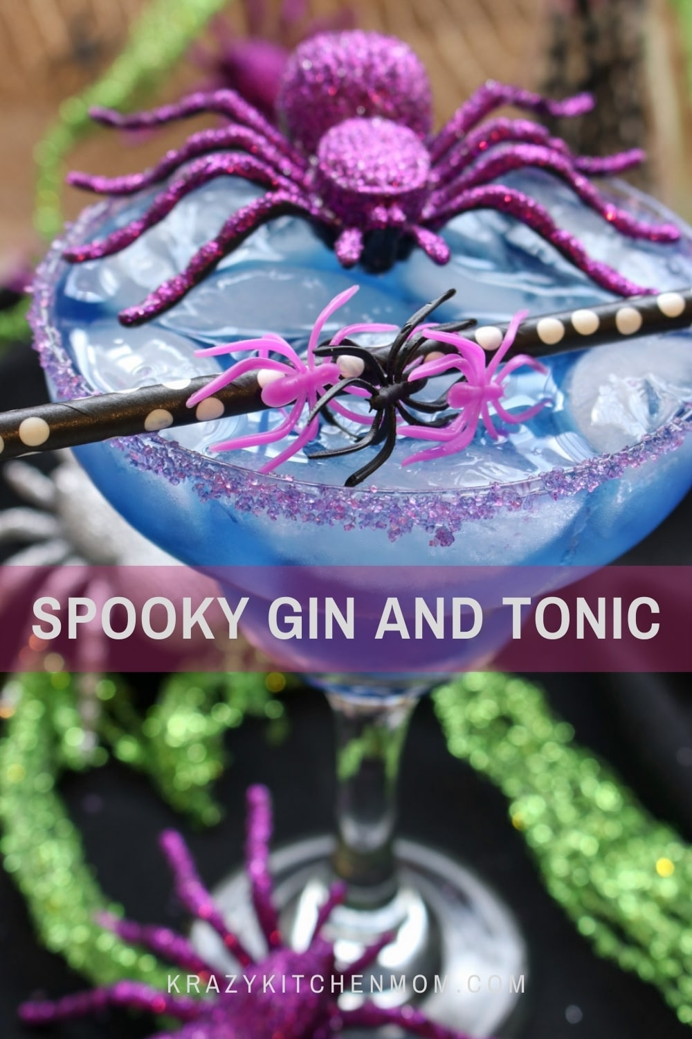 My gin and tonic cocktail has its own Halloween costume this year. This cocktail is balanced with a touch of sweetness and citrus notes.  via @krazykitchenmom