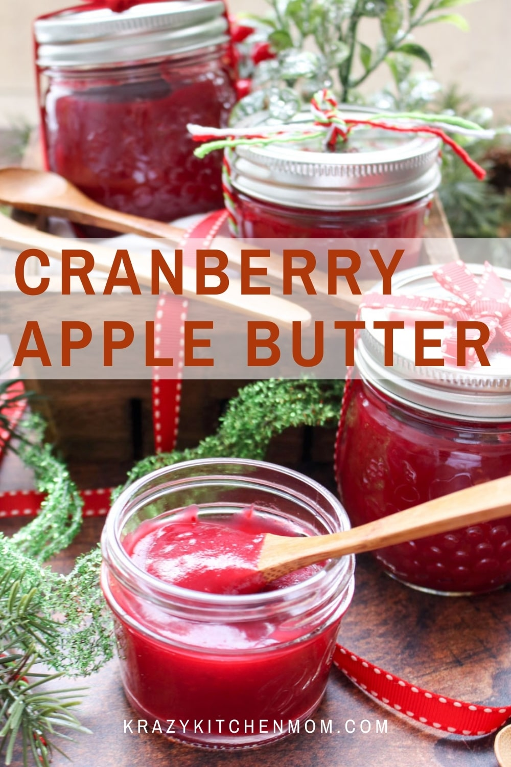 A simple and seasonal recipe to ring in the holidays all month. Cranberry apple butter is a sweet, creamy, tangy addition to your morning toast. via @krazykitchenmom