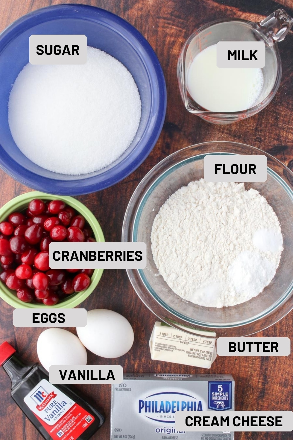 photo showing the ingredients in muffin top cookies