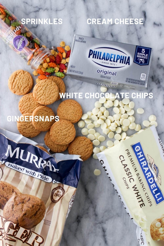 Ingredients to make gingersnap truffles
