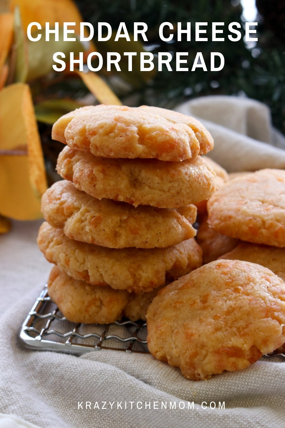 These homemade cheese shortbreads are a great addition to your holiday snacks and appetizers. They are so addictive you'll want to make a double batch.  via @krazykitchenmom