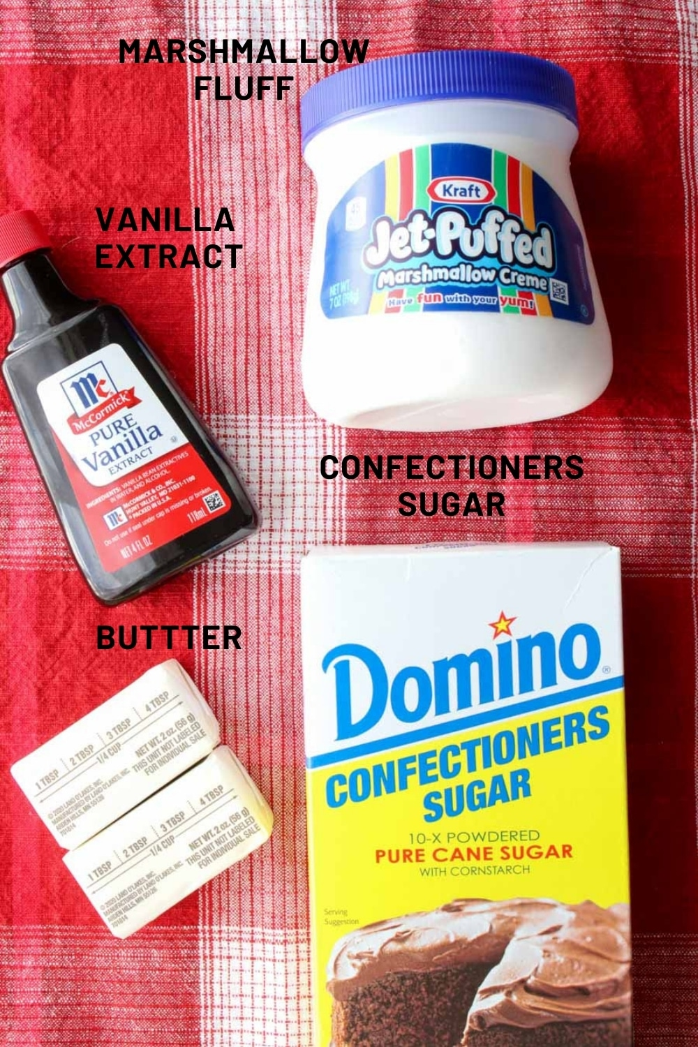 Four ingredients for Marshmallow Frosting