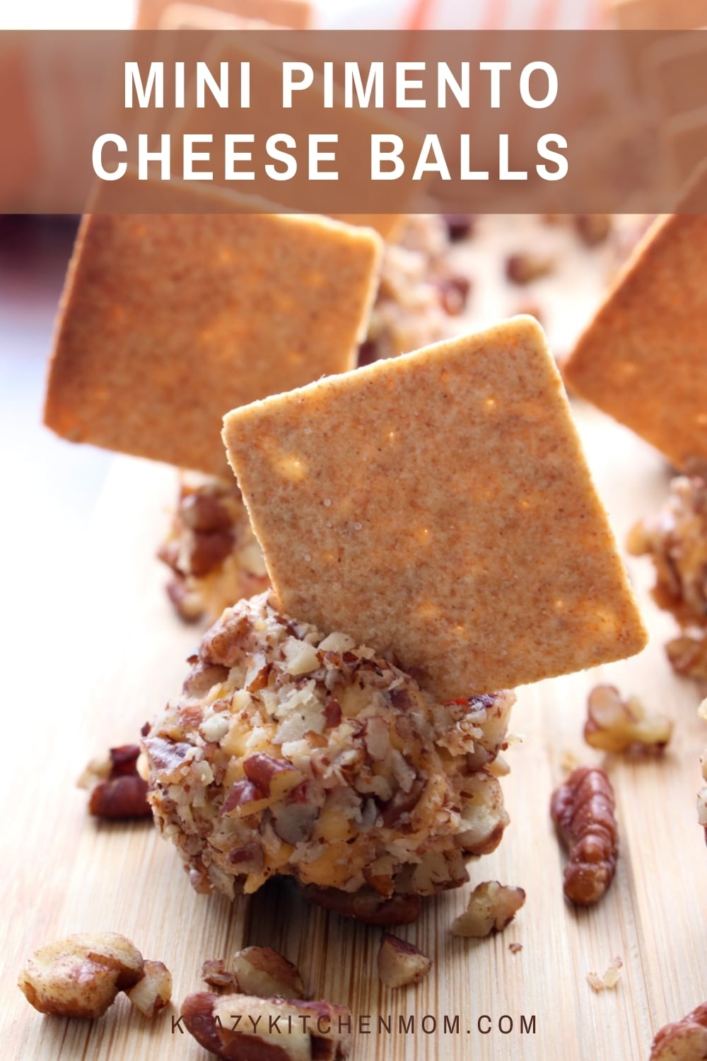 If you like pimento cheese spread, then you are going to LOVE these little bites of pimento cheese rolled in crunchy pecans. Put a taste of the south in your mouth! via @krazykitchenmom