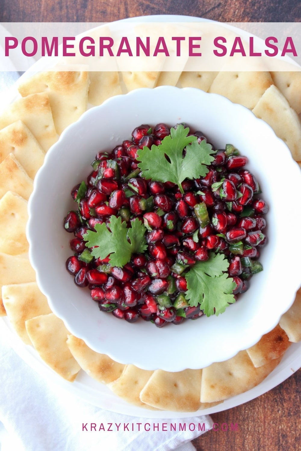 Ring in the New Year with a fresh delicious winter salsa filled with little red jewels of bursting flavor. via @krazykitchenmom