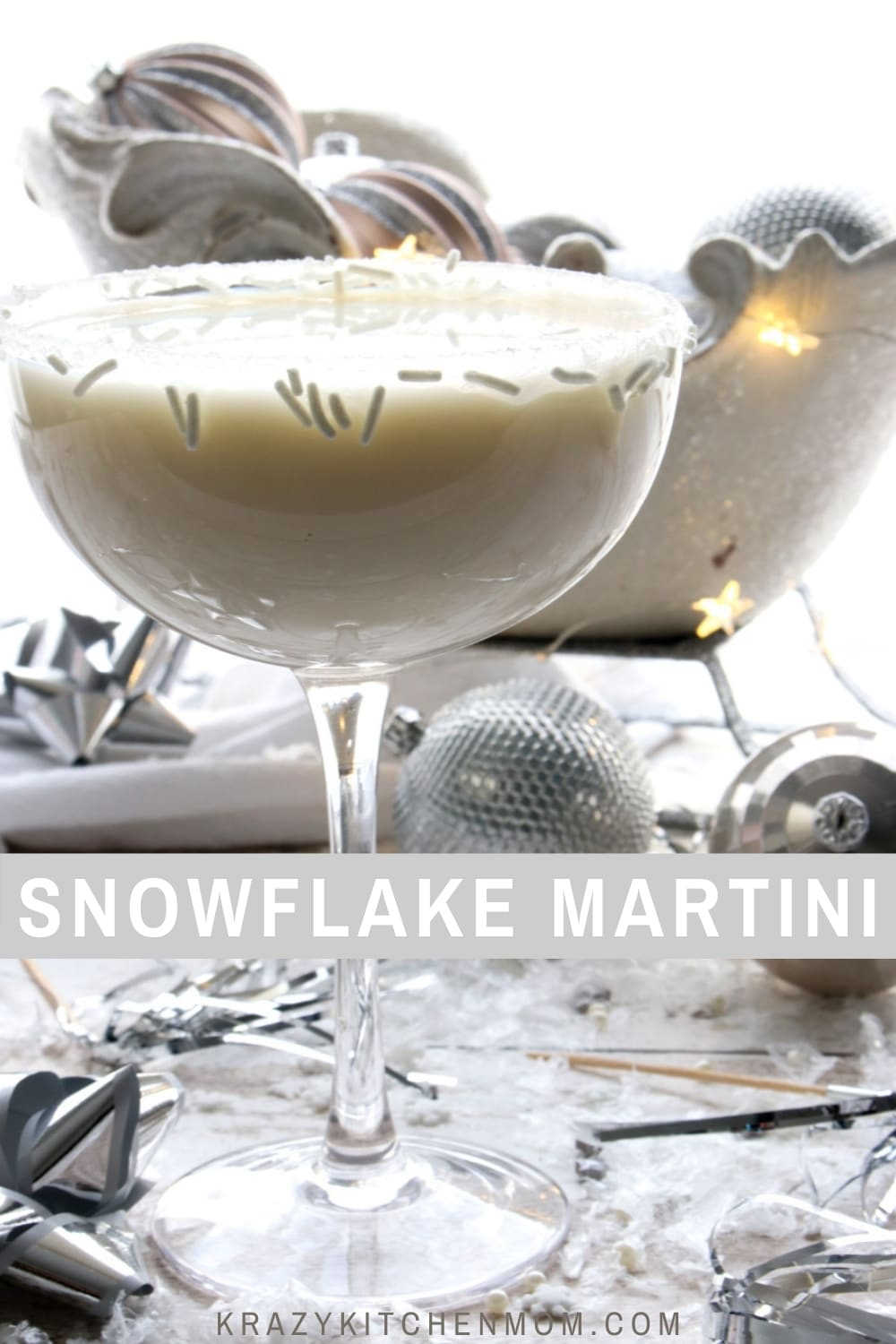 It's a winter wonderland outside and now you can create a winter wonderland inside with a festive signature cocktail. via @krazykitchenmom
