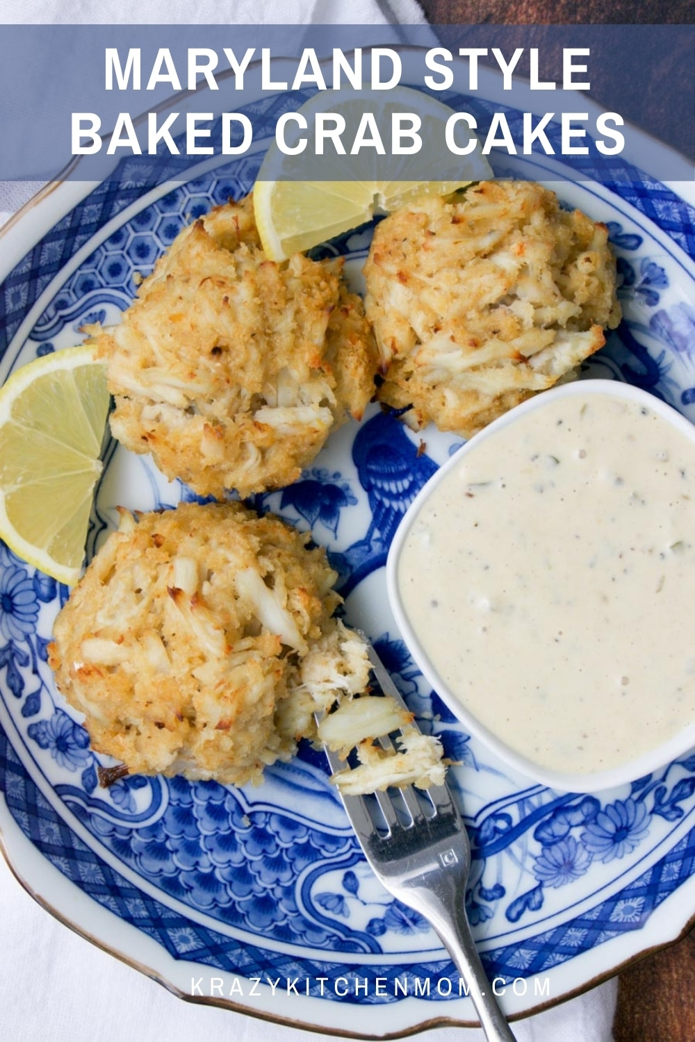 These lump-meat crab cakes are made with very little filler, letting the crab meat shine. Baked to perfection and served with a tasty remoulade. via @krazykitchenmom