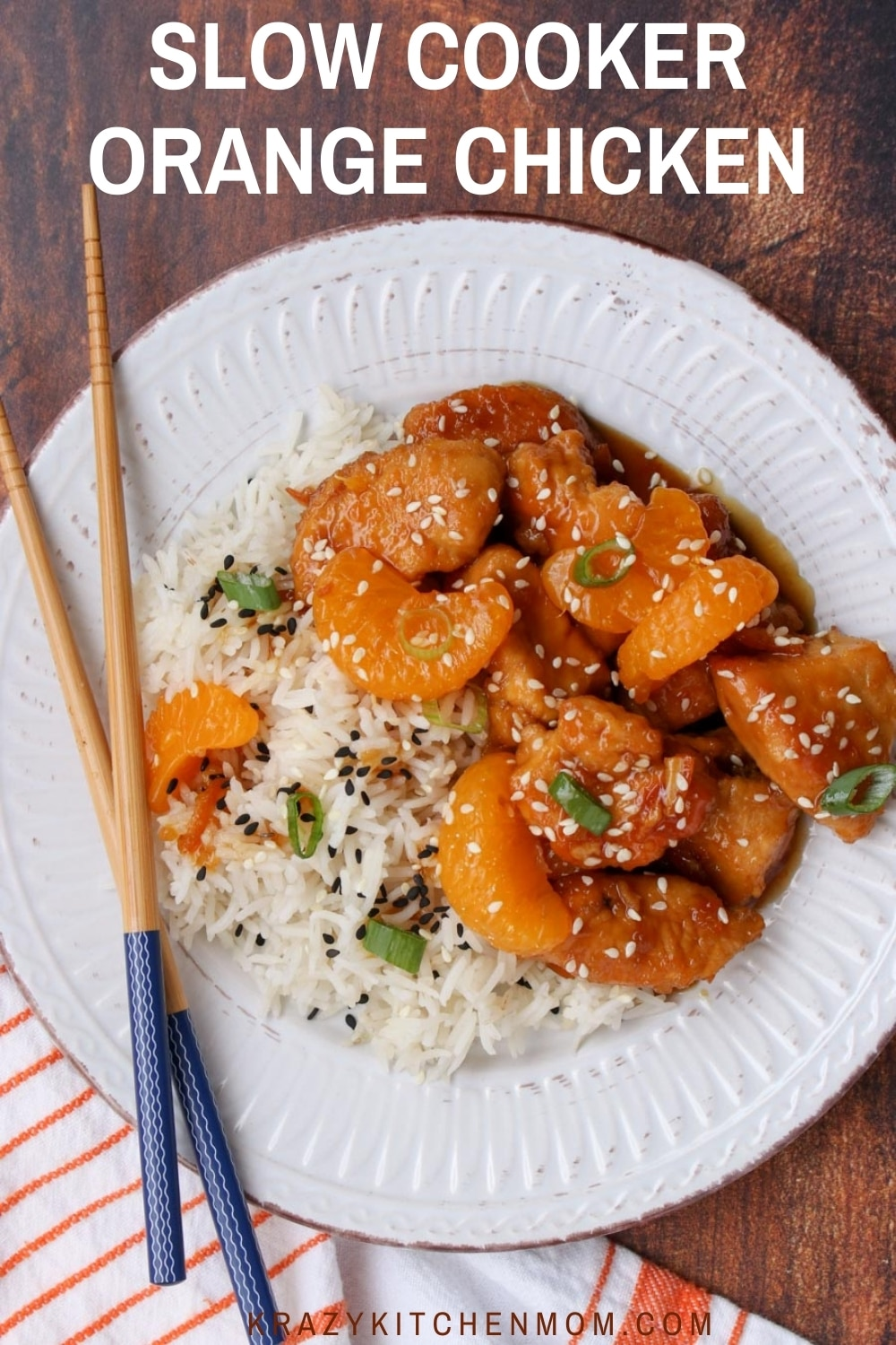 Make Orange Chicken at home! Super tender chicken drenched in a sweet tangy glaze that rivals any take out place. via @krazykitchenmom