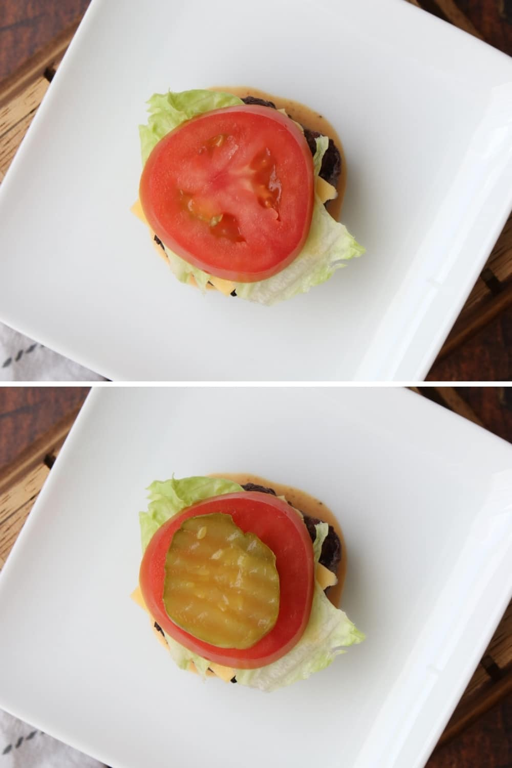 Two photos showing how to assemble sliders