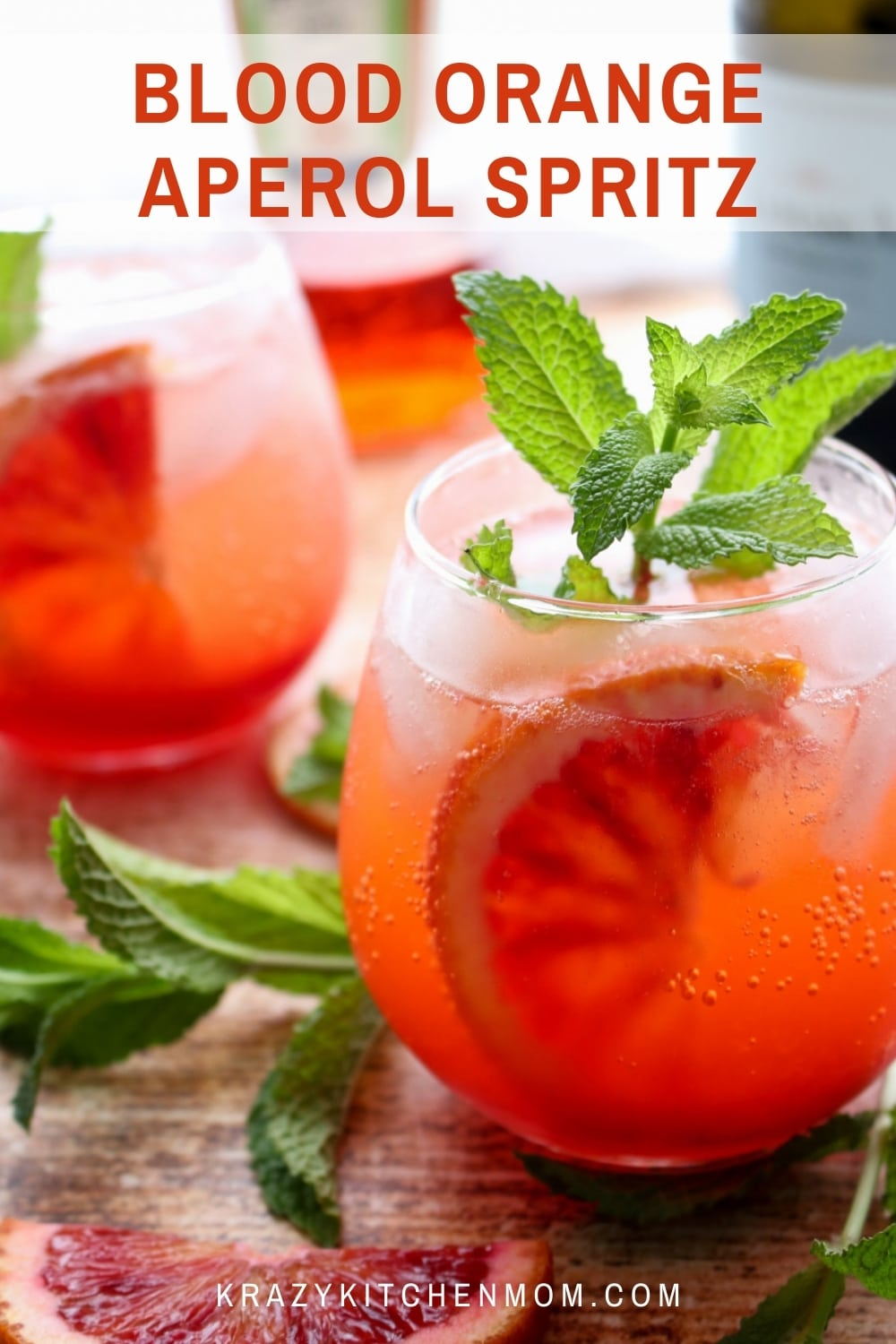 A delightful cocktail made with Aperol, Prosecco, and fresh mint. One sip of this refreshing not too sweet bubbly cocktail and you will be transported to a summer afternoon in Italy. via @krazykitchenmom