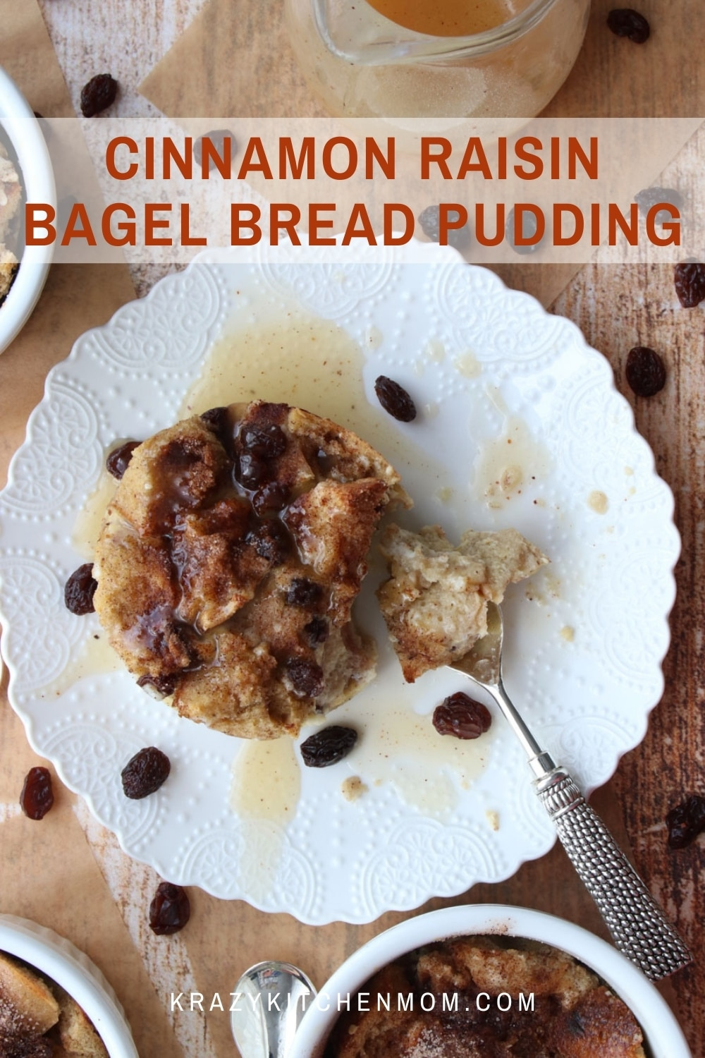 Turn leftover bagels into a decadent dessert that will have them asking for more. This is the ultimate comfort food dessert. via @krazykitchenmom