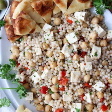 platter of Mediterranean Couscous Salad