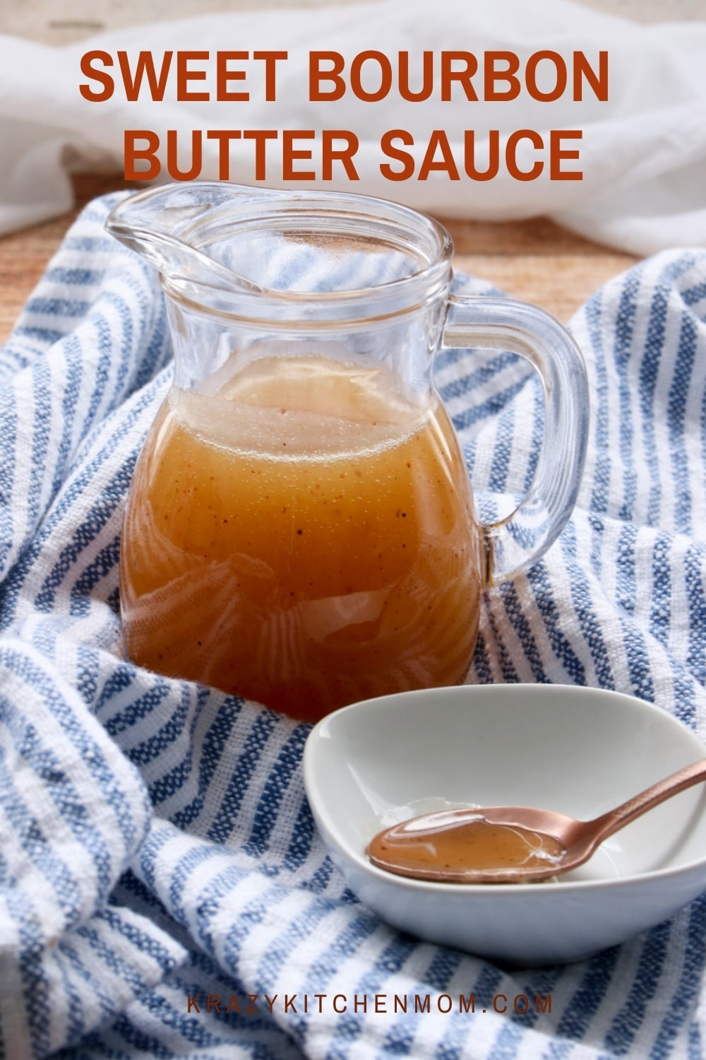 This bourbon sauce is super simple to make and ready in less than 10 minutes. Spoon it over bread pudding, ice cream, peaches, or just eat it with a spoon. via @krazykitchenmom