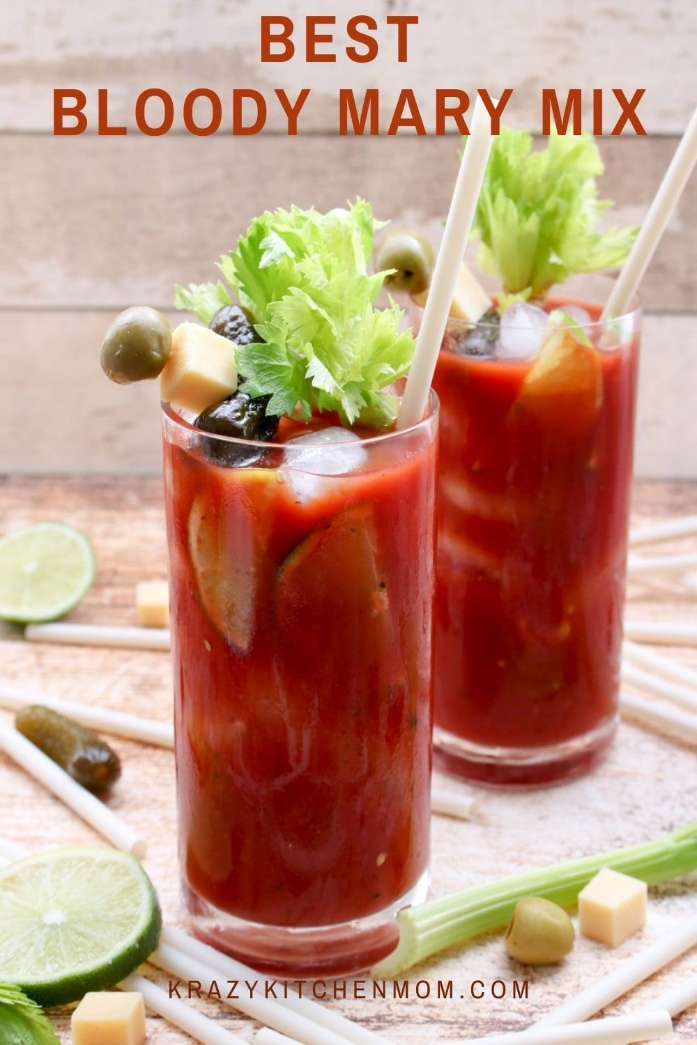 Bloody Mary mixes are very competitive but I've got the best mix you'll ever taste. You are definitely going to want to learn my secret ingredient that makes it extra zingy. via @krazykitchenmom