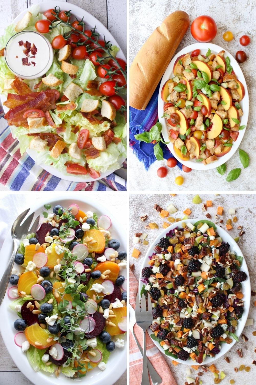 Photo of four KKM Salads