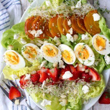 salad on a large platter