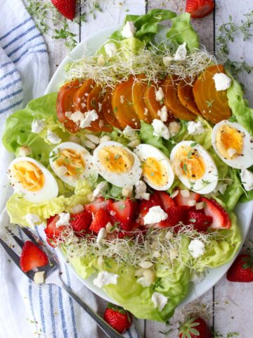 salad on a large platter