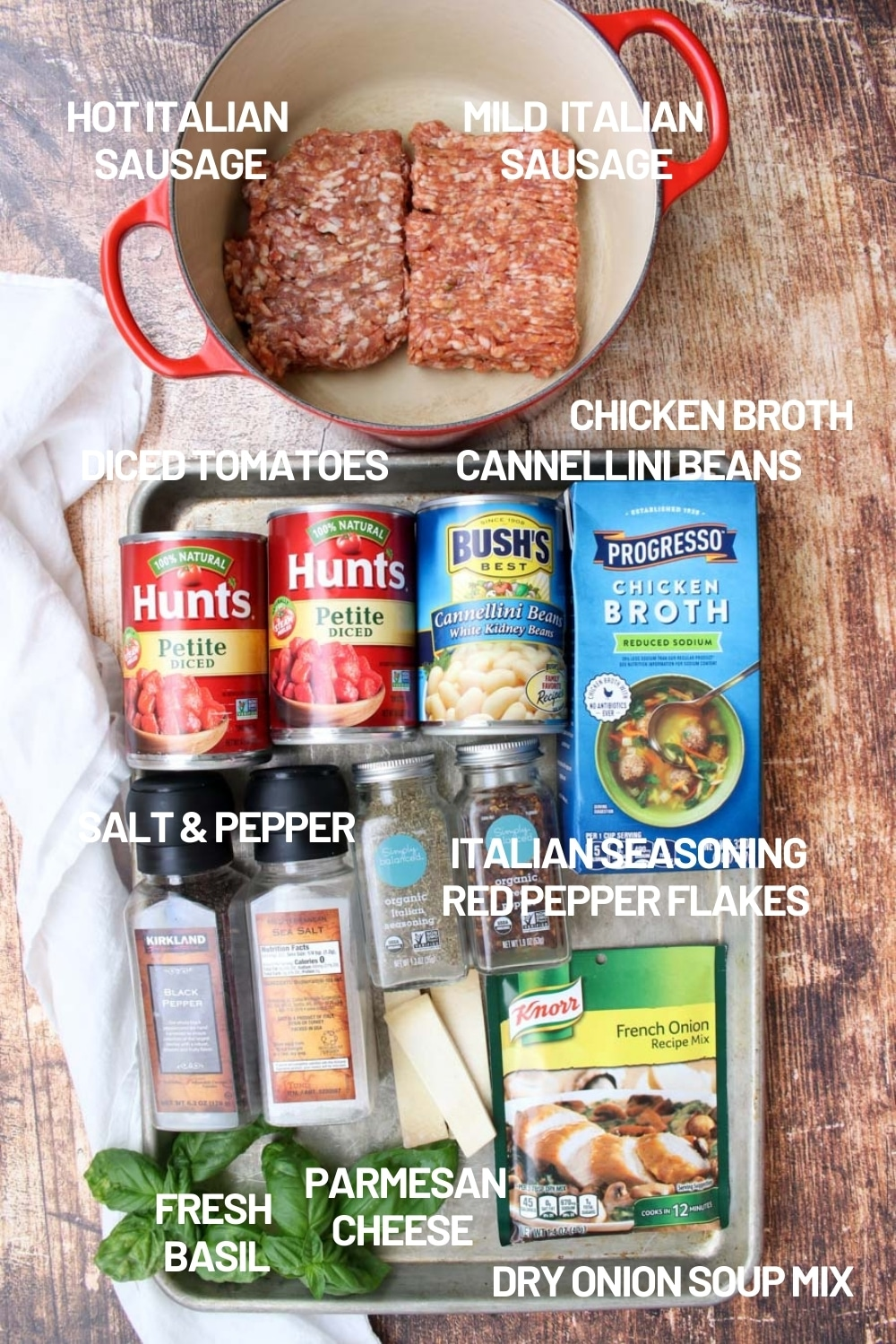 SAUSAGE AND BEAN SOUP INGREDIENTS