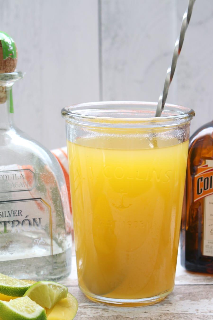pitcher of mango margaritas