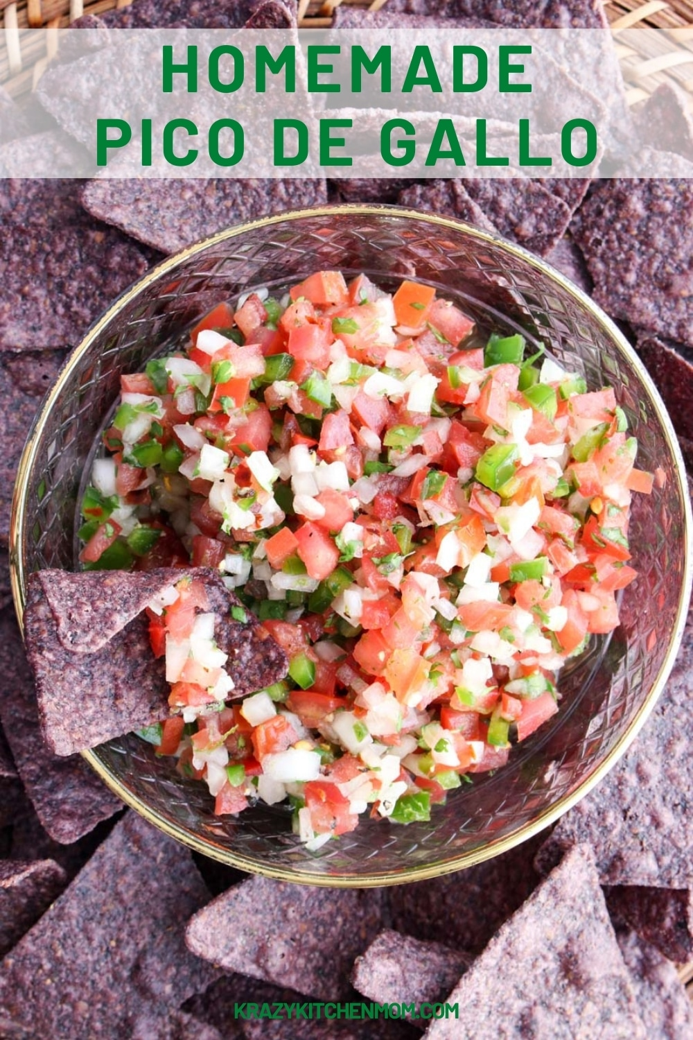 A traditional bright, fresh Mexican salsa bursting with fresh flavor from ripe tomatoes to the heat of jalapeños and tang of fresh lime. via @krazykitchenmom
