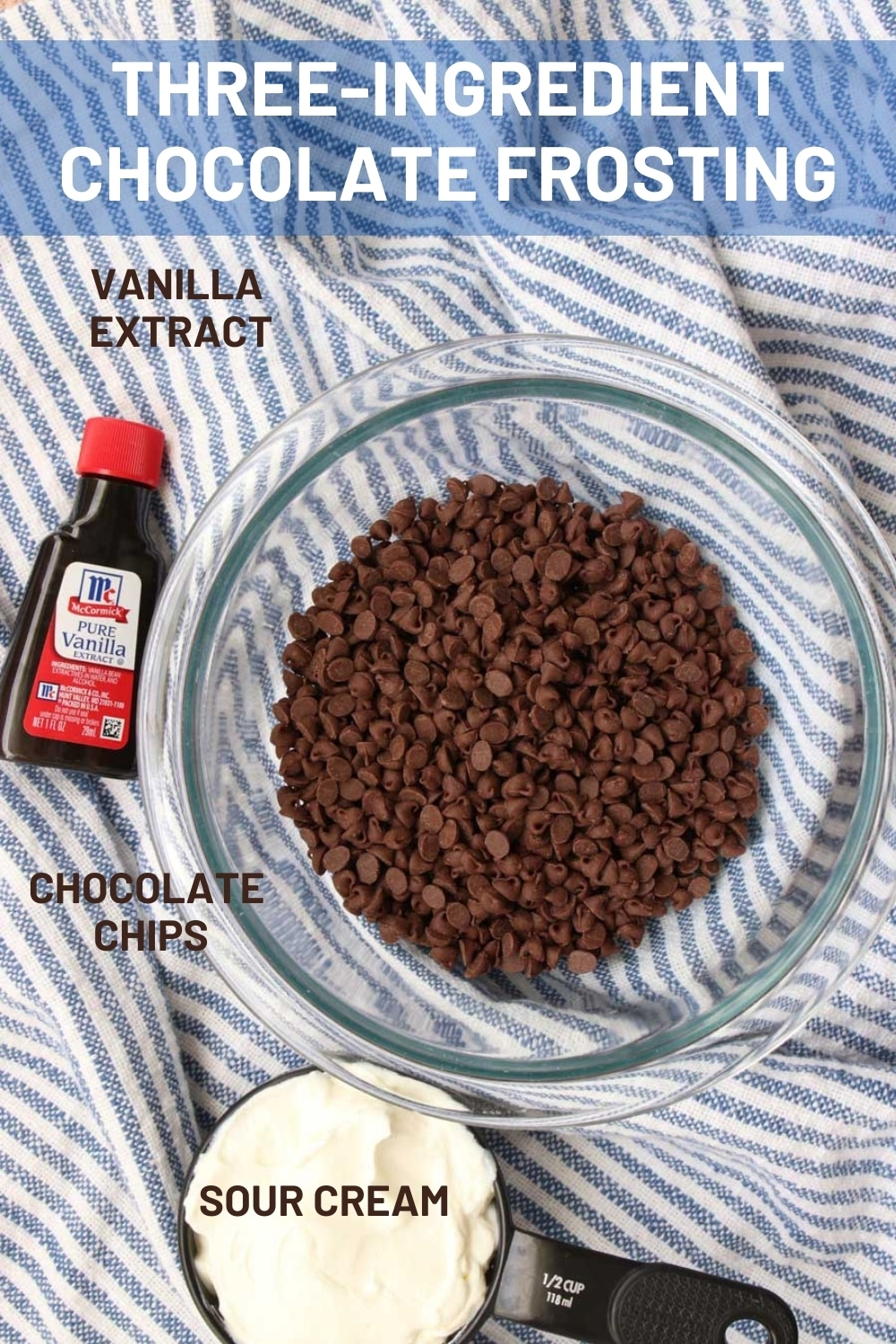 With only three ingredients and three minutes, you can make the creamiest, chocolatey frosting. The perfect chocolate flavor with a slight amount of tanginess.   via @krazykitchenmom