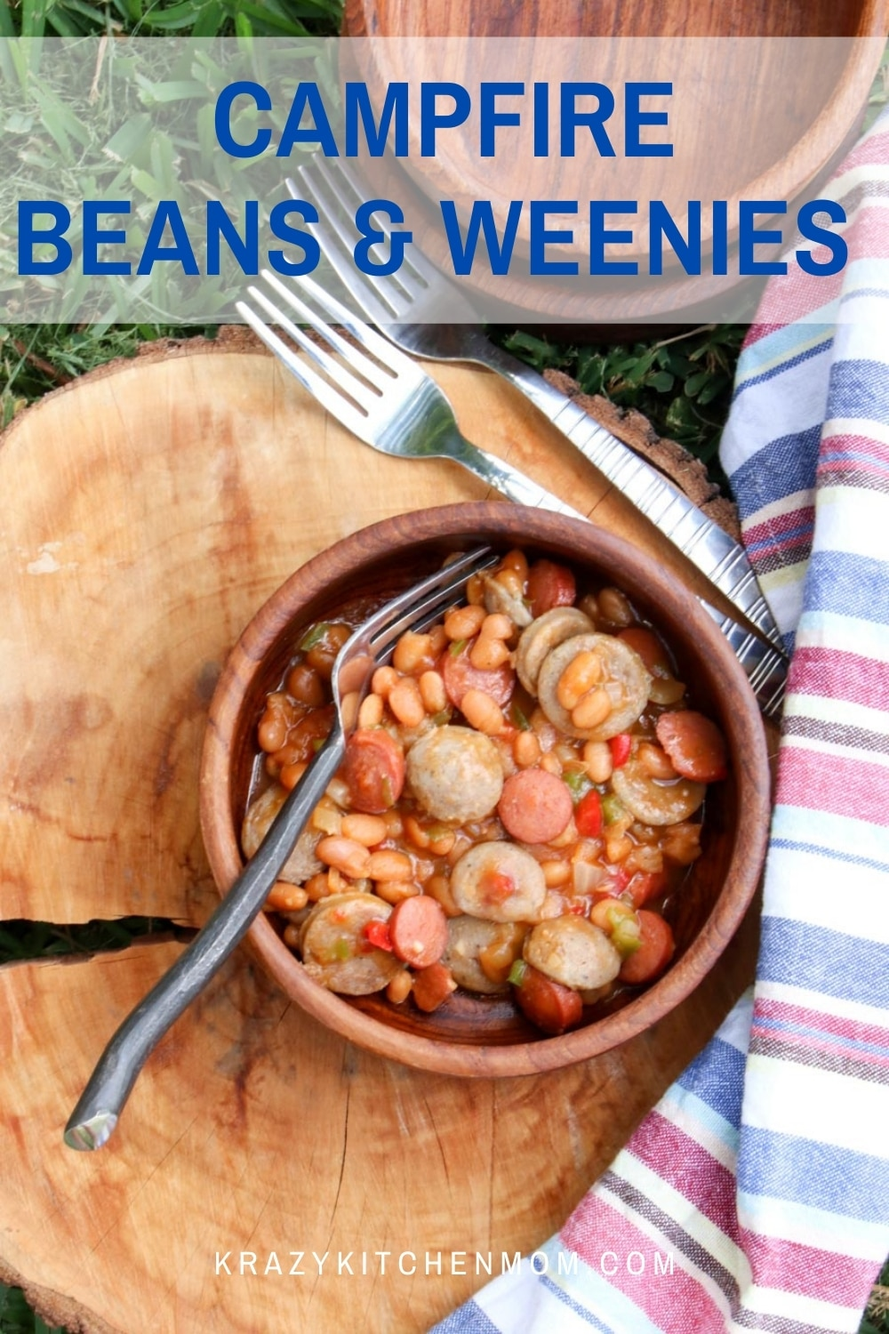 Summertime campfires and grills are heating up. Whip us a hearty family-friendly skillet of beans and weenies. via @krazykitchenmom
