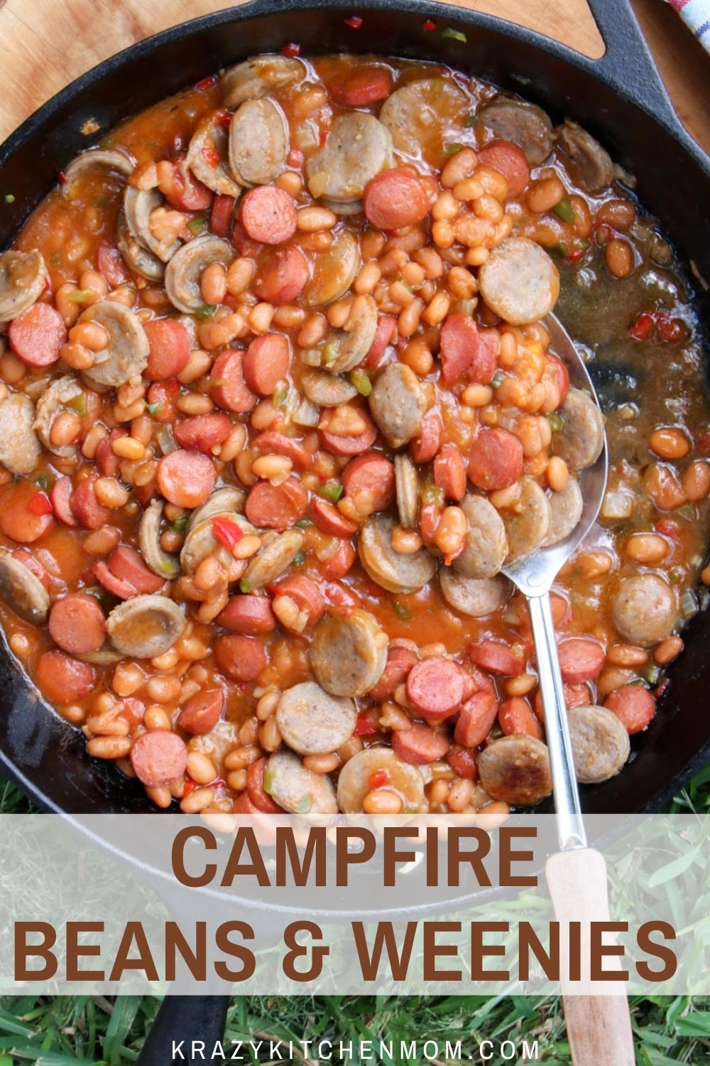 Summertime campfires and grills are heating up. Whip up a hearty family-friendly skillet of beans and weenies. via @krazykitchenmom