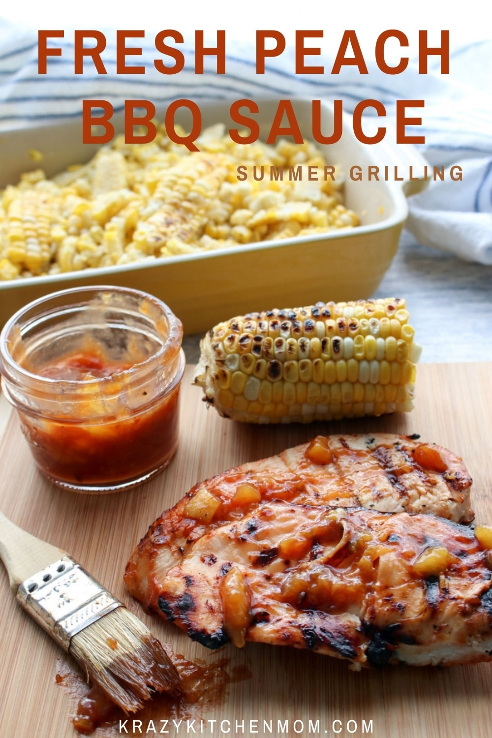 Give your store-bought BBQ sauce a zippy fresh fruity flavor by using fresh summer peaches. Slather it on everything you BBQ this summer. via @krazykitchenmom
