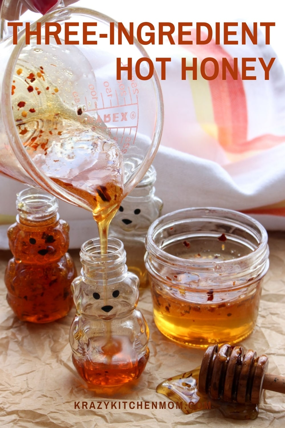 """Hot honey is all the rage right now. One bite and you will know why. It's sweet and a little spicy. I promise this is your new """"go-to"""" condiment.  via @krazykitchenmom"""