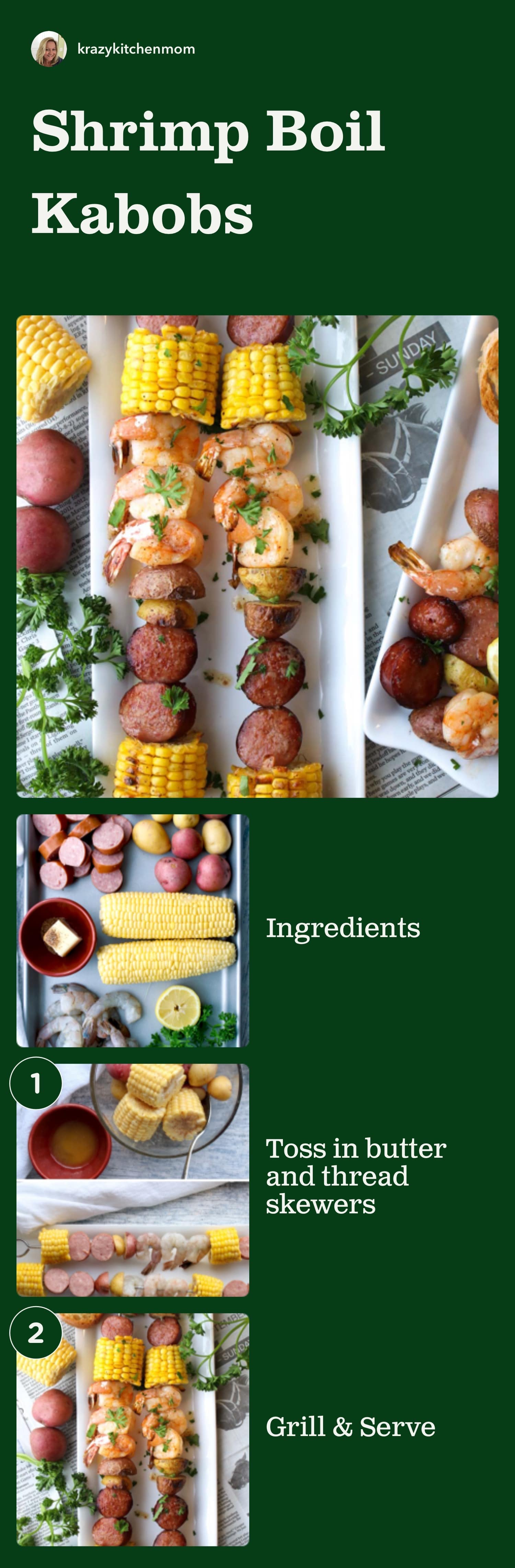 It's officially summer and time to fire up the grill for a summertime southern-style shrimp boil with big shrimp, corn, sausage, potatoes, and spices. via @krazykitchenmom