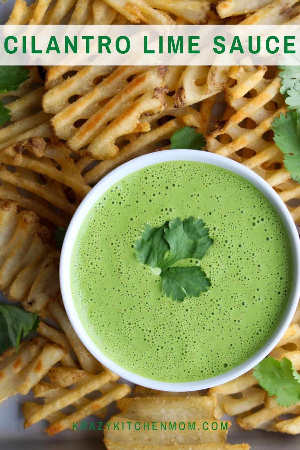 Cilantro Lime Sauce is a creamy, tangy, fresh, and bright sauce. Drizzle it on grilled chicken, pork, or steak. It's also a great sauce for grilled vegetables. via @krazykitchenmom
