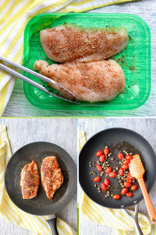 steps to make chicken piccata pasta